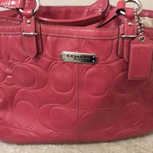 Pink patent leather Coach